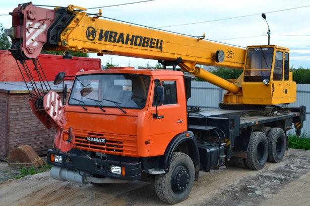 Аренда автокрана Ивановец 25 тонн
