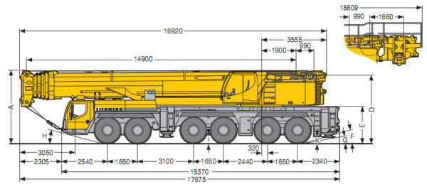 Аренда автокрана Liebherr 350 тонн