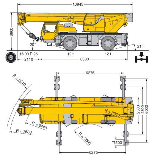 Автокран Liebherr 40 т, стрела 30 м