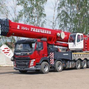 Автокран Галичанин 100 тонн